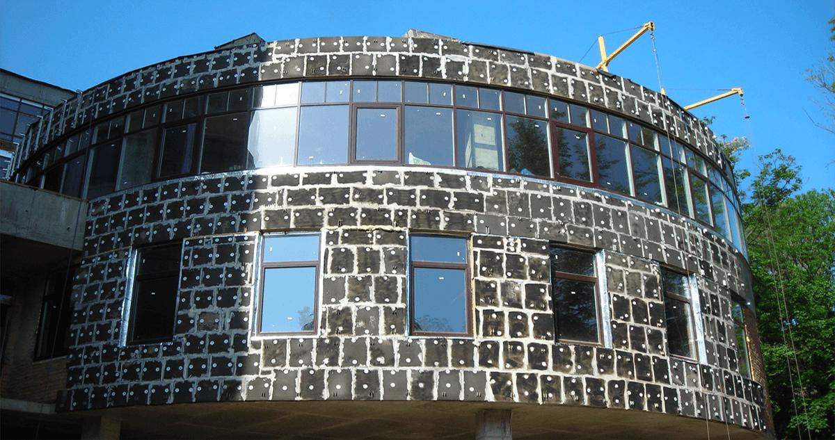 утепление стен, фасадов пеностеклом